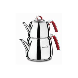 Korkmaz Vertex Kırmızı Çaydanlık Takımı