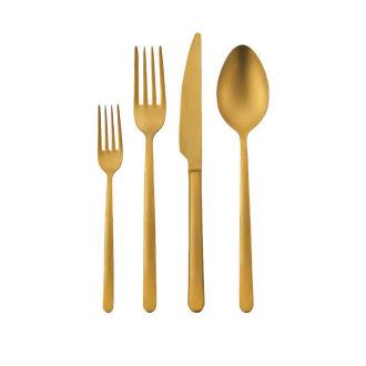 Korkmaz Riva Gold 24 Parça Çatal Kaşık Bıçak Seti