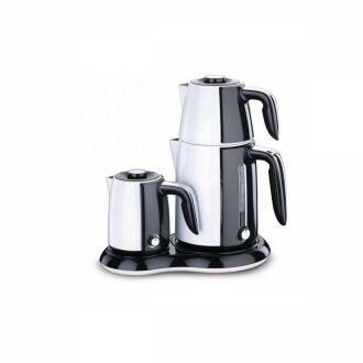 Korkmaz - Korkmaz Beyaz/Siyah Çay Kahve Makinesi