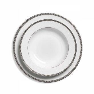 Korkmaz - Korkmaz Bianca Collection 86 Parça Yuvarlak Yemek Takımı