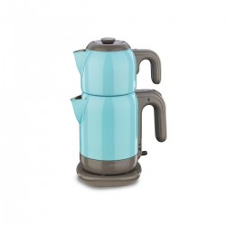 Korkmaz - Korkmaz Demtez Mavi/Gri Elektrikli Çaydanlık