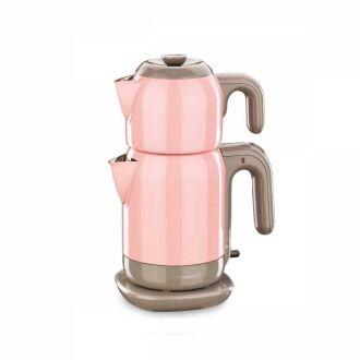 Korkmaz - Korkmaz Demtez Pembe/Gri Elektrikli Çaydanlık