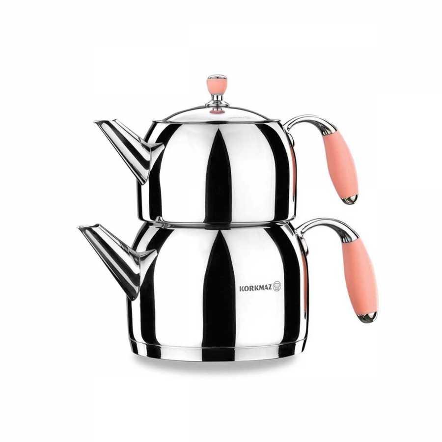 Korkmaz Flora Pembe Maxi Çaydanlık Takımı