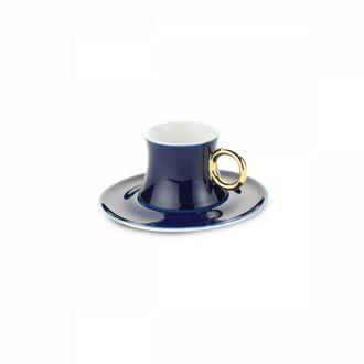 Korkmaz - Korkmaz Freedom 6'lı Mavi Kahve Fincan Takımı