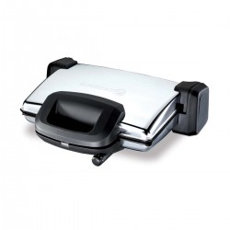 Korkmaz - Korkmaz Kompakto Inox/Siyah Maxi Die Cast Tost Makinesi
