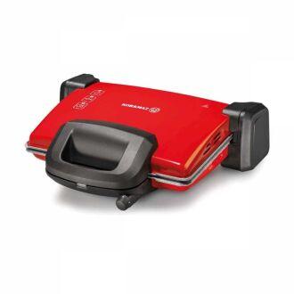Korkmaz - Korkmaz Kompakto Kırmızı/Siyah-Gri Granit Maxi Tost Makinesi