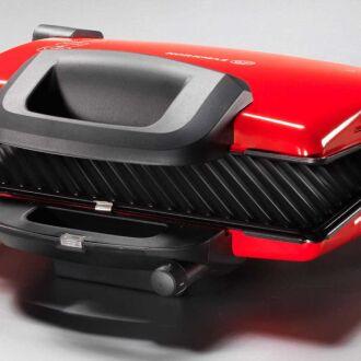 Korkmaz - Korkmaz Kompakto Kırmızı/Siyah-Gri Granit Small Tost Makines