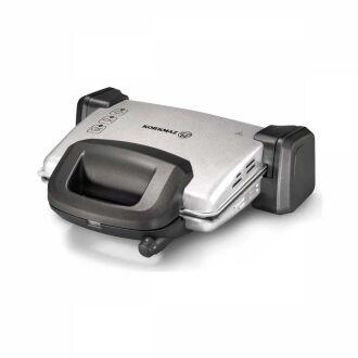 Korkmaz - Korkmaz Kompakto Gri/Siyah-Gri Granit Small Tost Makine