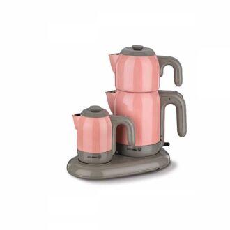 Korkmaz - Korkmaz Mia Pembe/Gri Çay Kahve Makinesi