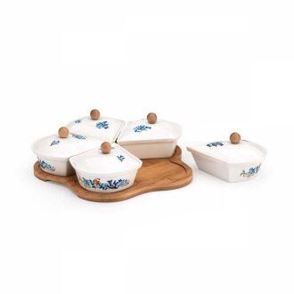 Korkmaz - Korkmaz Natura 11 Parça Blue Kahvaltı Seti