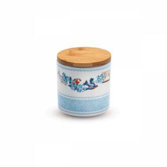 Korkmaz - Korkmaz Natura 11x11 cm Mavi Saklama Kabı