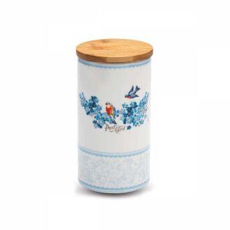 Korkmaz - Korkmaz Natura 11x20 cm Mavi Saklama Kabı