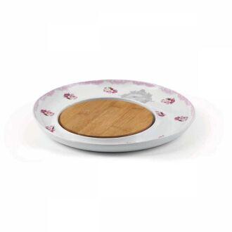 Korkmaz - Korkmaz Natura Pembe Peynir Tabağı