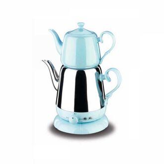 Korkmaz - Korkmaz Nosta Inox/Mavi Elektrikli Çaydanlık