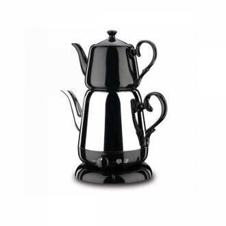 Korkmaz - Korkmaz Nosta Inox/Siyah Elektrikli Çaydanlık