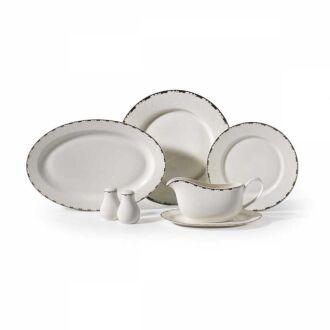 Korkmaz - Korkmaz Pearl Collection 86 Parça Yuvarlak Yemek Takımı