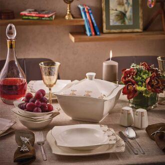 Korkmaz - Korkmaz S Collection 86 Parça Yemek Takımı