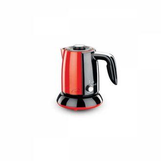 Korkmaz - Korkmaz Tek Kahve Kırmızı/Siyah Elektrikli Cezve Makinesi