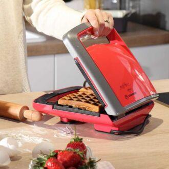Korkmaz Vertex Kırmızı Waffle Makinesi - Thumbnail