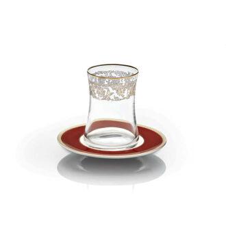 Korkmaz Hasbahçe Lal 12 Parça Çay Bardak Seti