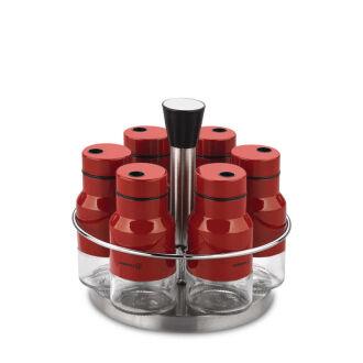 Korkmaz Stora Round Kırmızı 7 Parça Baharat Seti