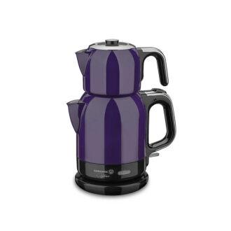 Korkmaz Çaytema Lavanta/Krom Elektrikli Çaydanlık