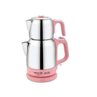Korkmaz Çaytema Pembe/Krom Elektrikli Çaydanlık