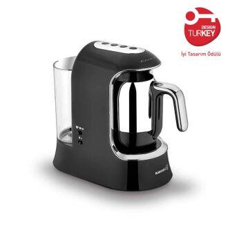 Korkmaz Kahvekolik Aqua Siyah/Krom Otomatik Kahve Makinesi