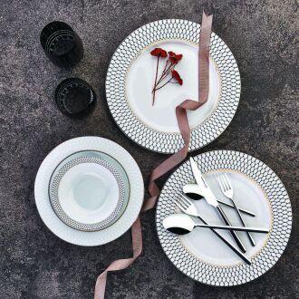 Korkmaz Bianca Collection 86 Parça Yuvarlak Yemek Takımı - Thumbnail