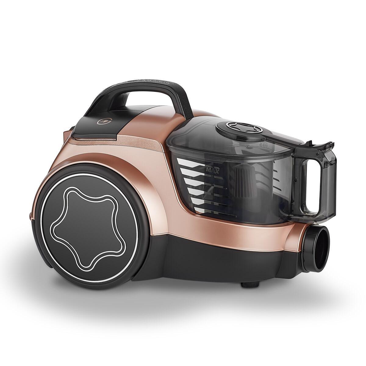 Korkmaz Cosmos Premium Elektrikli Süpürge Rosegold/Siyah