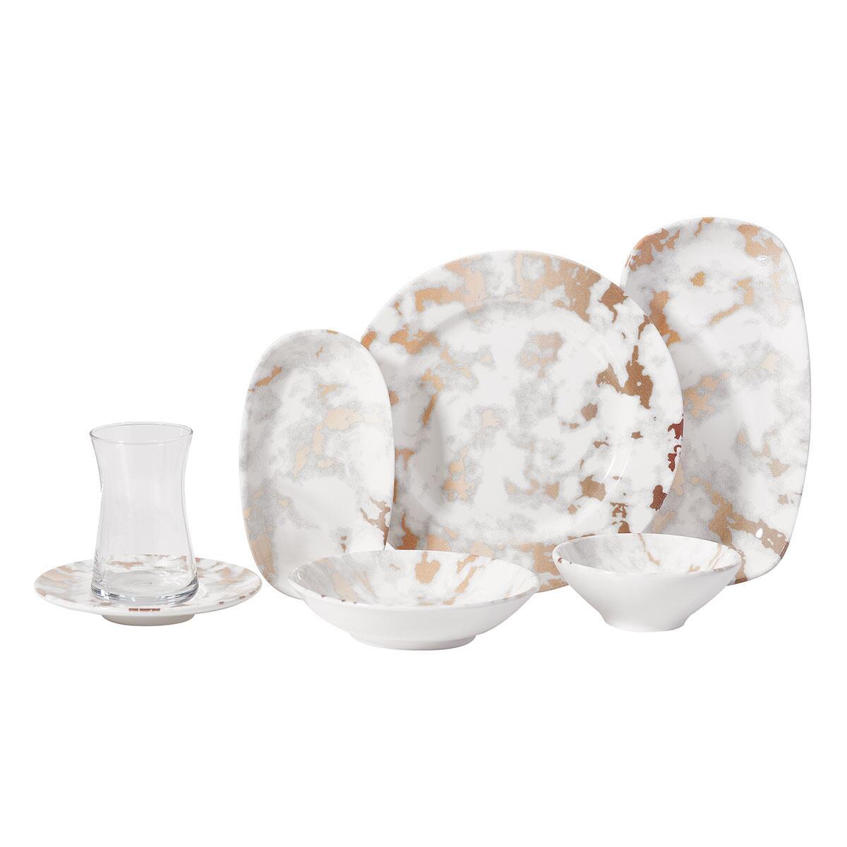 Korkmaz - Korkmaz Doğa Collection 26 Parça Kahvaltı Takımı