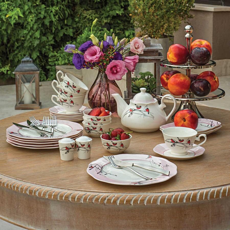 Korkmaz Flora Collection 30 Parça Yuvarlak Kahvaltı Takımı