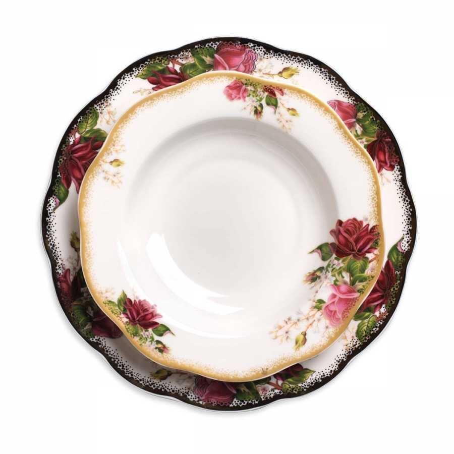 Korkmaz Flora Collection 86 Parça Yuvarlak Yemek Takımı