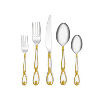 Korkmaz Florance Gold 84 Parça Çatal Kaşık Bıçak Seti - Thumbnail