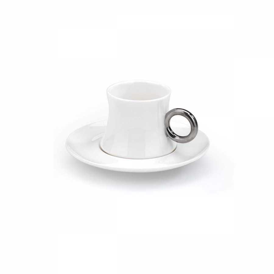 Korkmaz Freedom 6'lı Beyaz/Platin Kahve Fincan Takımı