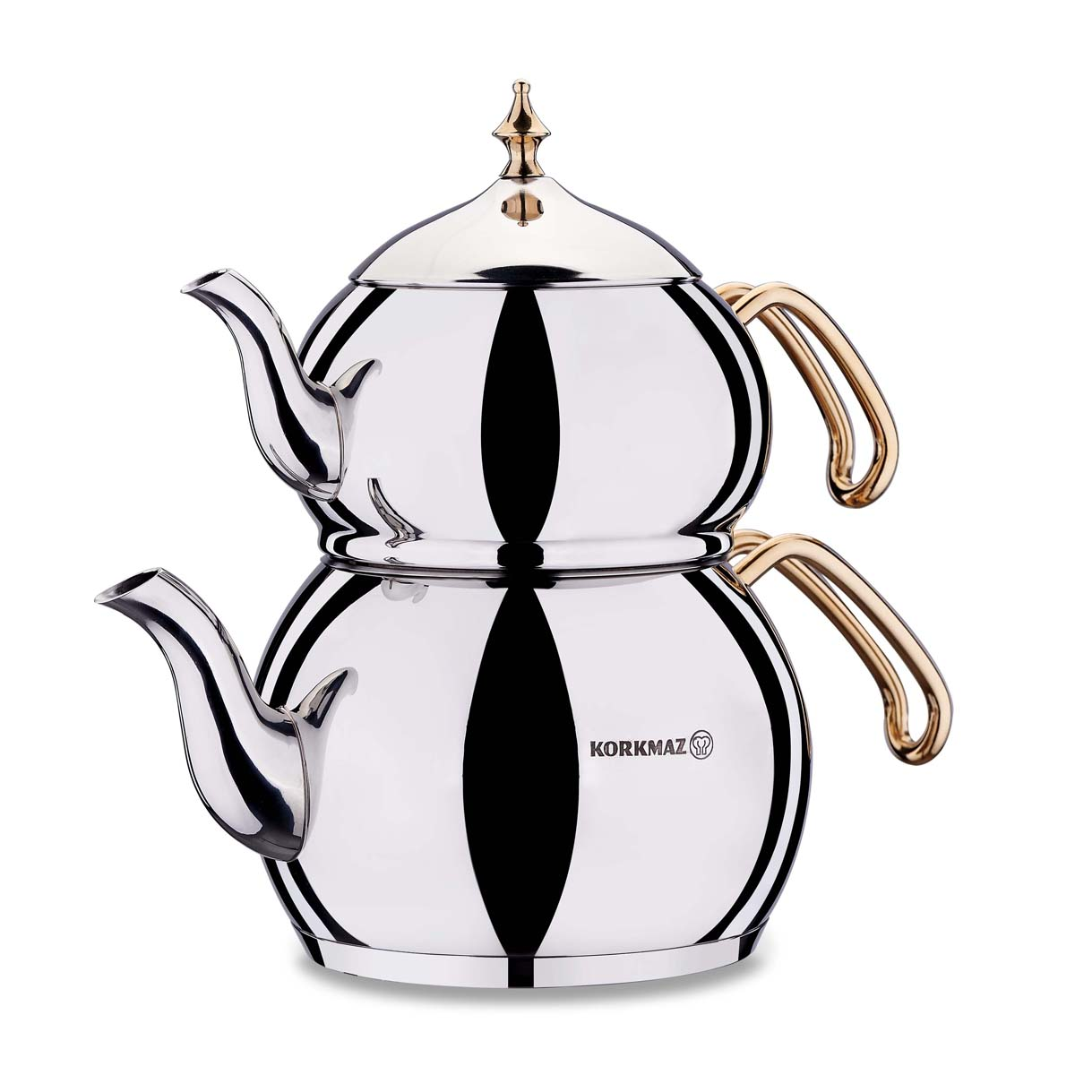 Korkmaz Hanedan Gold Çaydanlık Takımı