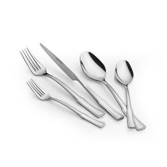 Korkmaz Hasbahçe 89 Parça Silver Çatal Kaşık Bıçak Seti - Thumbnail
