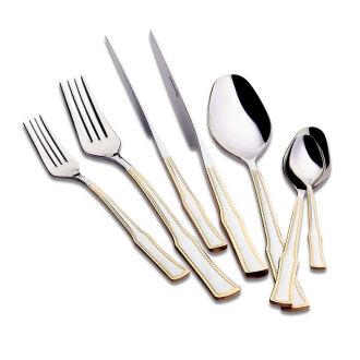 Korkmaz Hasbahçe Gold 89 Parça Çatal Kaşık Bıçak Seti - Thumbnail