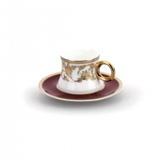 Korkmaz Hasbahçe Lal 6'lı Kahve Fincan Takımı - Thumbnail