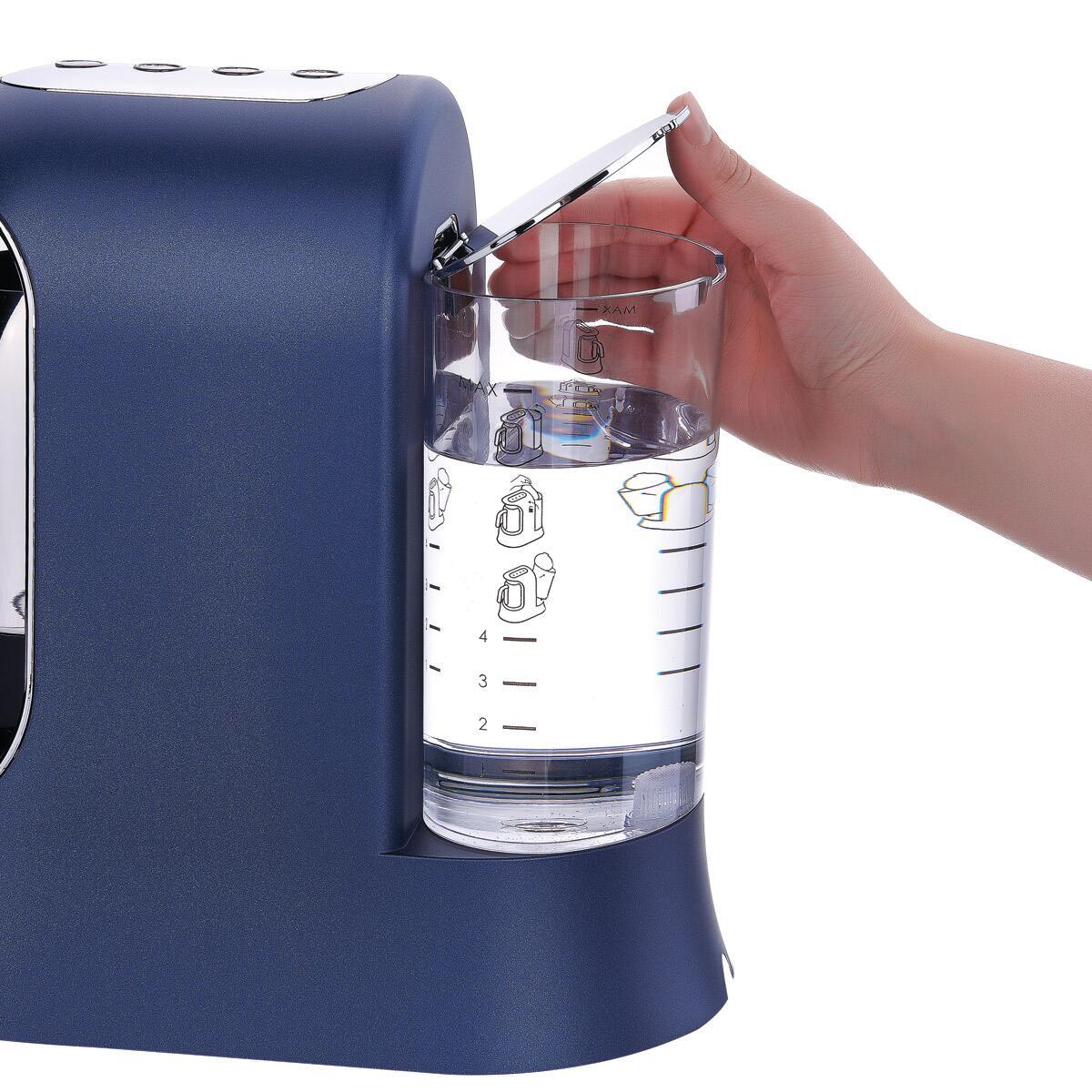 Korkmaz Kahvekolik Aqua Azura/Krom Otomatik Kahve Makinesi