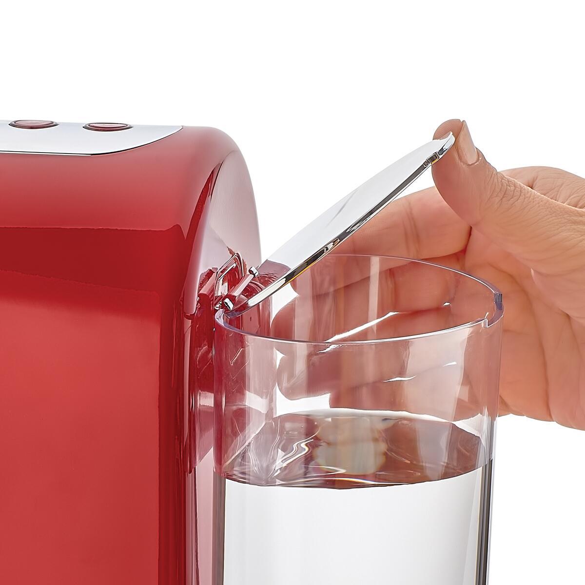 Korkmaz Kahvekolik Aqua Kırmızı/Krom Otomatik Kahve Makinesi