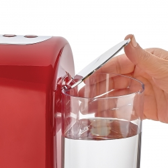 Korkmaz Kahvekolik Aqua Kırmızı/Krom Otomatik Kahve Makinesi - Thumbnail