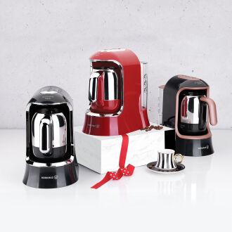 Korkmaz Kahvekolik Aqua Siyah/Rosagold Otomatik Kahve Makinesi - Thumbnail