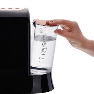 Korkmaz Kahvekolik Deluxe Aqua Siyah/Rosagold Kahve Makinası - Thumbnail