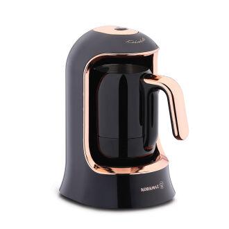 Korkmaz Kahvekolik Deluxe Otomatik Kahve Makinesi Siyah/Rose - Thumbnail