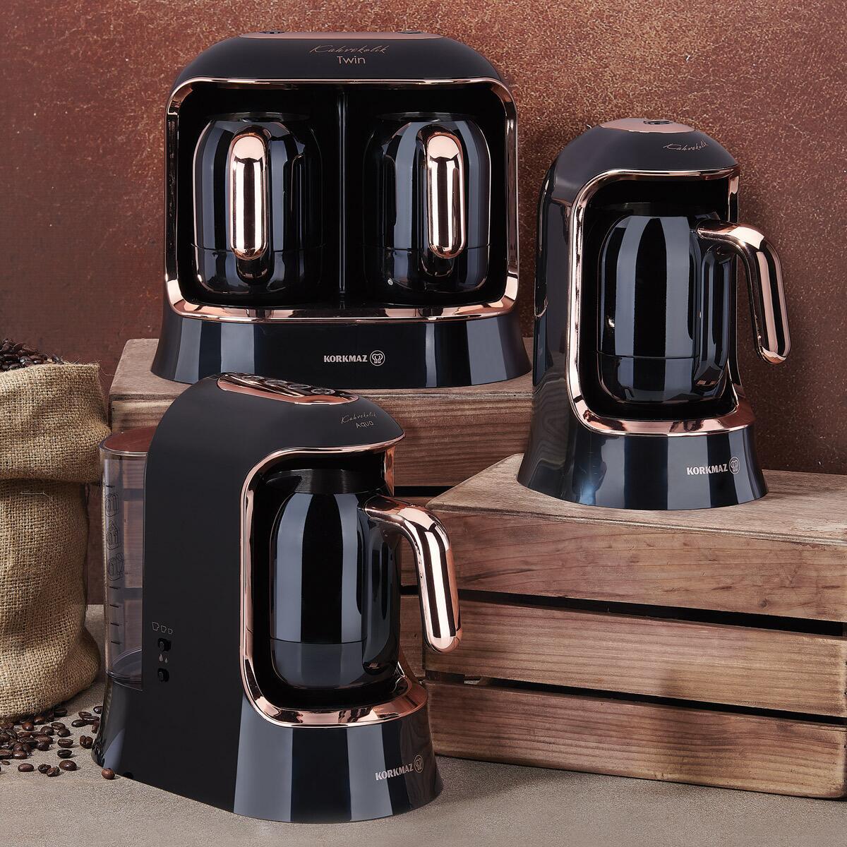 Korkmaz Kahvekolik Deluxe Otomatik Kahve Makinesi Siyah/Rose