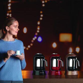 Korkmaz - Korkmaz Kahvekolik Pembe Otomatik Kahve Makinesi (1)