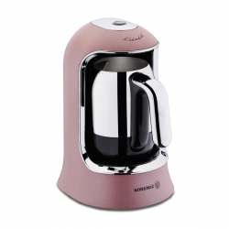 Korkmaz Kahvekolik Rosagold/Krom Otomatik Kahve Makinesi - Thumbnail