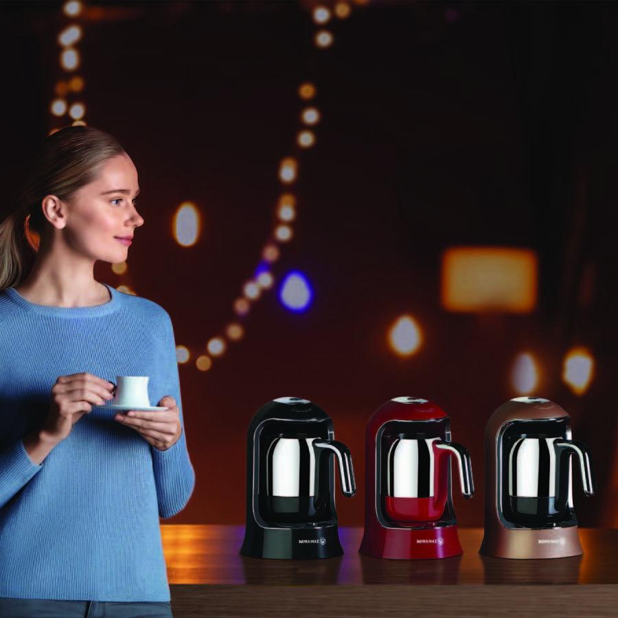 Korkmaz Kahvekolik Siyah Otomatik Kahve Makinesi