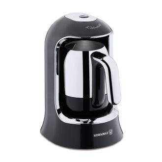 Korkmaz Kahvekolik Siyah/Krom Otomatik Kahve Makinesi - Thumbnail